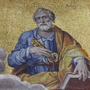 Peter proclaiming Jesus